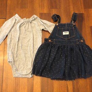 OshKosh B'gosh Overall Skirt Set